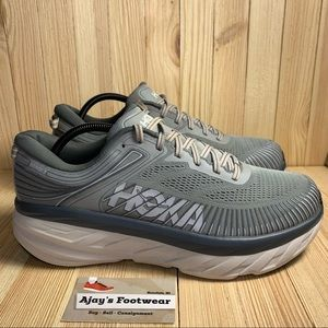 Hoka One One Bondi 7 Running Men's Gym Grey Shoes